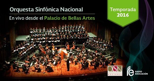 Inicia transmisión de la Orquesta Sinfónica Nacional