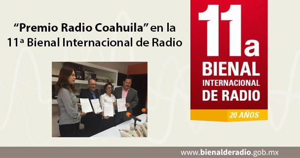 """""""Premio Radio Coahuila"""" en la 11ª Bienal Internacional de Radio"""